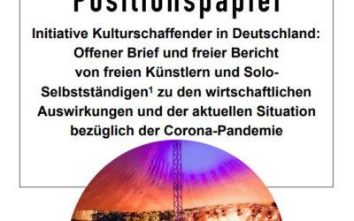 Positionspapier – Initiative Kulturschaffender in Deutschland